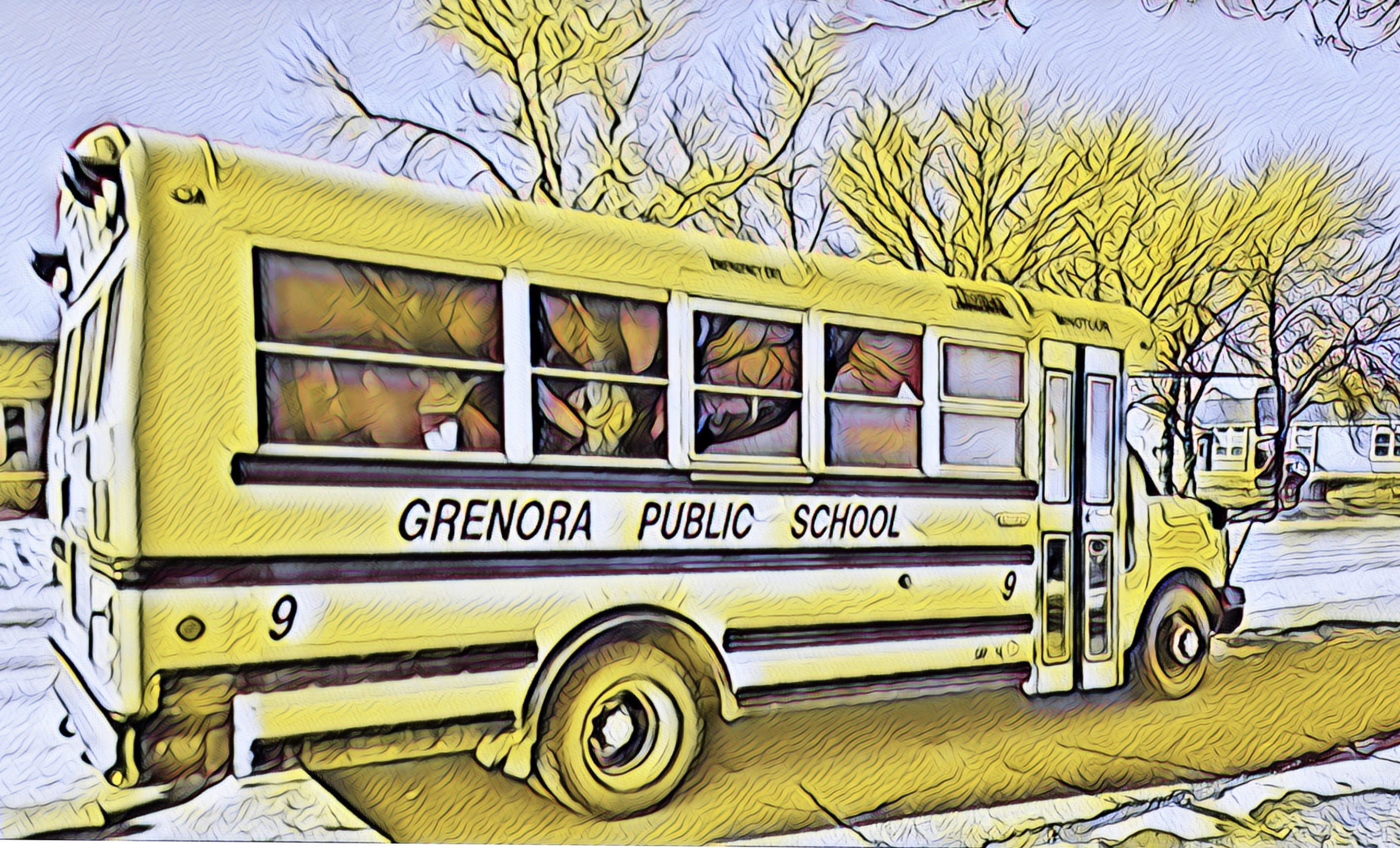 Filtered pic of school bus